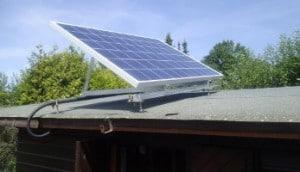 Solaranlage Gartenhaus Solarmodul